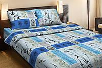 Постельное белье Lotus Ranforce Kioko синий двуспального размера