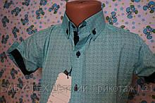 Рубашка опт 6-12 лет короткий рукав турция