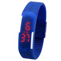Спортивные LED часы синие