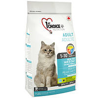 Корм для котов для здоровой кожи и блестящей шерсти 1st Choice (Фест Чойс) ЛОСОСЬ ХЕЛЗИ / 2,72 кг