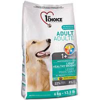 1st Choice (Фест Чойс) малокалорийный сухой супер премиум корм для собак с избыточным весом, 6 кг