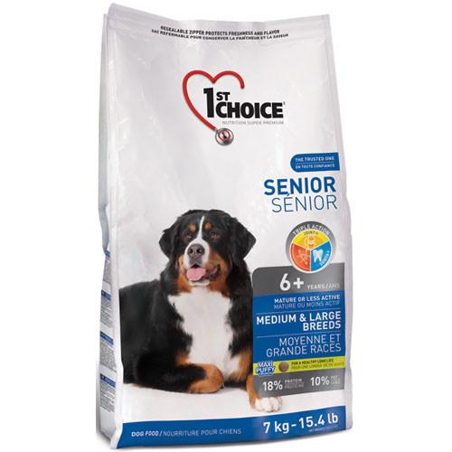 Корм для пожилых или малоактивных собак средних и крупных пород, 14 кг / 1st Choice Senior