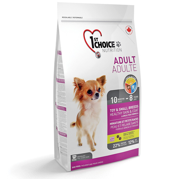 Корм для взрослых собак мини пород 7 кг / 1st Choice Toy&Small Lamb&Fish / ягненок и рыба
