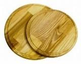 Доска разделочная круглая без сточного желоба 340*20 мм