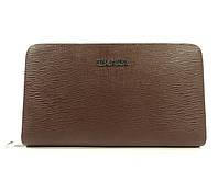 Клатч кожаный мужской Prada 9046-1 коричневый