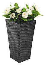 Квітковий горщик для кафе BLOM. Ротанг. Висота 70 см