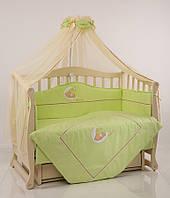 Детское постельное белье Маленькая Соня Teddy зеленый, фото 1