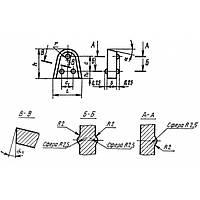 Пластина твердосплавная Г2402 ВК8