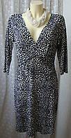 Платье женское летнее в горох вискоза стрейч F&F р.48-50 6440