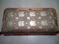 Женский кошелек-клатч Apple, золотистый, фото 1