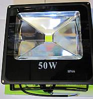 Прожектор светодиодный плоский 50W холодный IP-66, фото 1
