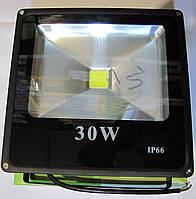 Прожектор светодиодный плоский 30W холодный IP-66