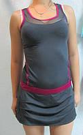 Сарафан Adidas серый с сиреневым (44840) код 155д