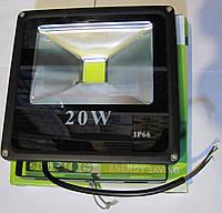 Прожектор светодиодный плоский 20W холодный IP-66