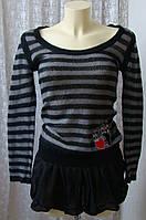 Свитер женский нарядный мохер туника модная р.44 6443, фото 1