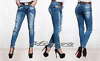Джинсы ДН №0766 Ткань срейч-джинс (пояс в комплекте)
