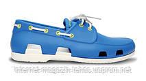 Мужские Crocs Beach Line Boat Shoe Blue White