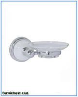 Мыльница для ванной Lyon с керамической вставкой, настенная, пластик