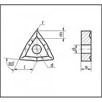 Пластина твердосплавная сменная 02114-100408 Т15К6