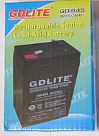 Аккумулятор GDLITE GD-645 6V 4.0Ah (DC6V4AH), фото 1