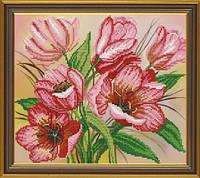 Новая Слобода БИС3121 Розовые тюльпаны, схема под бисер