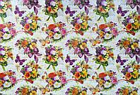 """Подарочная бумага для упаковки  """" Цветы, бабочки """" , размер 707х1000 мм"""