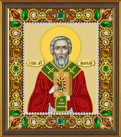 Новая Слобода Д6103 Св. Анатолий Патриарх Константинопольский, набор для вышивания бисером