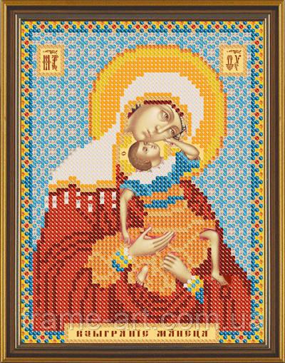 Новая Слобода БИС5042 Божия Матерь Взыграние младенца, схема под бисер