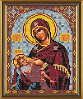 Новая Слобода БИС9039 Богородица Млекопитательница, схема под бисер