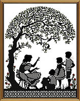 Новая Слобода БИС3270 Счастливая семья, схема под бисер