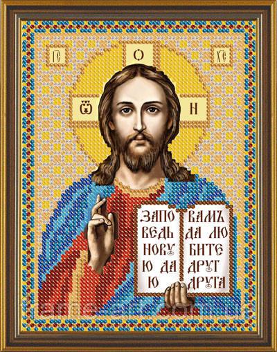Новая Слобода БИС5034 Господь Иисус Христос, схема под бисер
