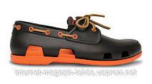 Мужские  Crocs Beach Line Boat Shoe Brown Orange