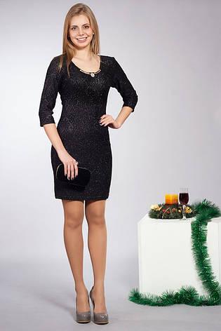 Праздничное женское платье черного цвета, фото 2