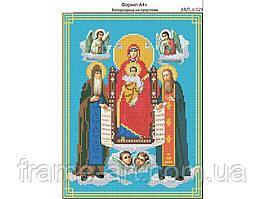 Ридний край И-029 Богородица на престоле. Всецарица, схема под бисер