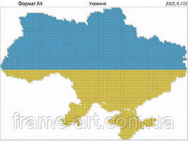 Ридний край К-102 Украина, схема под бисер
