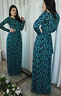 Красивое платье в пол с эффектом гипюра, фото 1