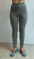 Женские спортивные лосины ADIDAS (5487-1) темно-серые код 082 Б
