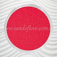 Малиновый цветной песок