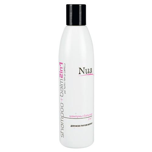 """""""Nua"""" Шампунь-бальзам 2в1 для всех типов волос 250мл"""