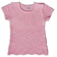Ажурный джемпер для девочки, розового цвета, рост 92 см
