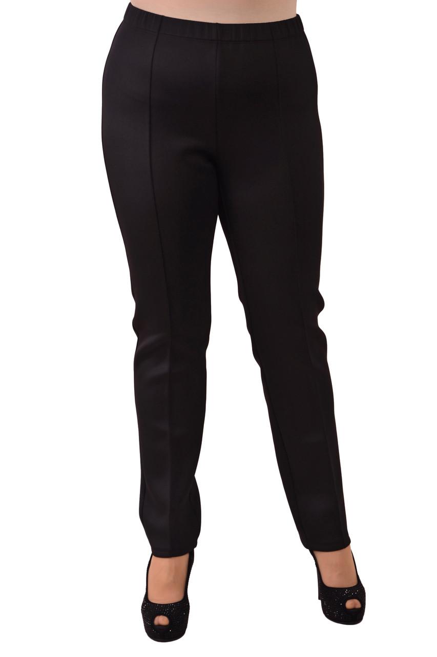 Зауженные брюки черные трикотажные , размеры 50-56 , Бр 010.