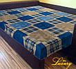 "Простынь на резинке 140х200 см ""Шотландка синяя"" in Luxury™ 32007"