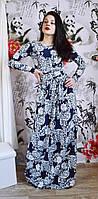 Красивое платье в пол цветы
