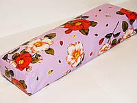 Подлокотник (цветы на фиолетовом)  30*9*7