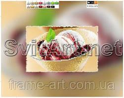 SvitArt 21х15 ХВ F-032с Мороженое, схема на холсте