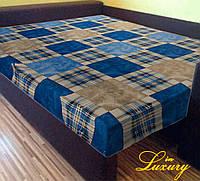 "Простынь на резинке 180х200 см ""Шотландка синяя"" in Luxury™ 32007"