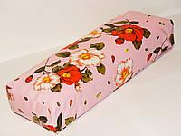 Подлокотник (цветы на розовом)   30*9*7