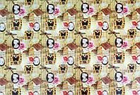 """Подарочная бумага для упаковки  """" Бабочки, стрекозы """" , размер 707х1000 мм"""