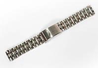 Браслет классический Nobrand для наручных часов серебряный , 18 мм