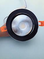 Светодиодный LED даунлайт 30 Вт черный